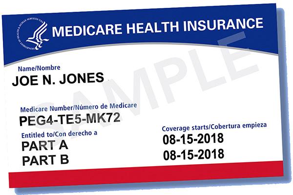 New Medicare card design