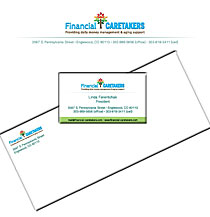 We create letterhead, envelopes, business cards and speciality branded items for financial advisors